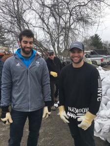 2019 Flood Sand Bagging Brodie Rawding & Luke Cross