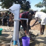 Borehole Work as Water Comes Out